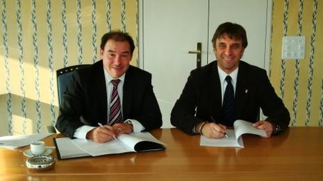 SAFP President Valloni und SFL Präsident Grimm