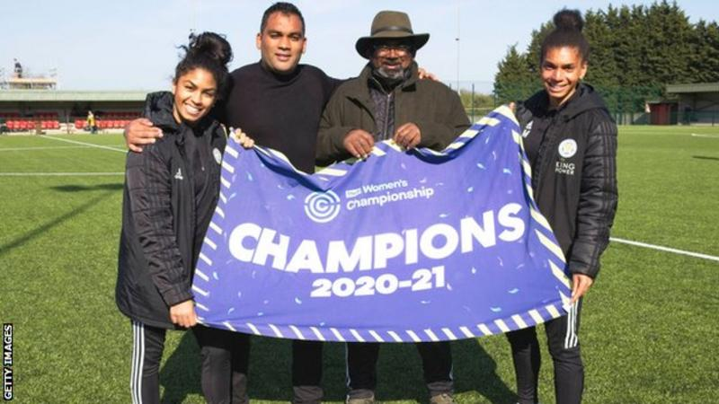 (From left to right) Jade Morgan, Jonathan Morgan, Rohan Morgan and Holly Morgan celebrating on Sunday