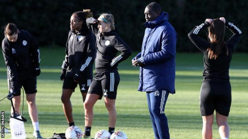 Leicester City ambassador Emile Heskey has been involved in coaching the squad this season